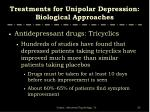 treatments for unipolar depression biological approaches8