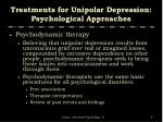 treatments for unipolar depression psychological approaches1