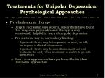 treatments for unipolar depression psychological approaches2