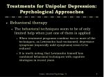 treatments for unipolar depression psychological approaches4
