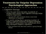 treatments for unipolar depression psychological approaches7
