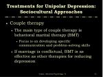 treatments for unipolar depression sociocultural approaches2