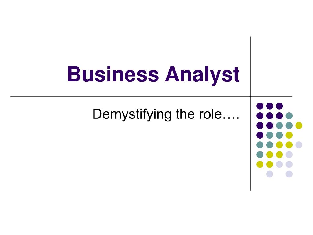 business analyst l.