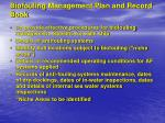 biofouling management plan and record book