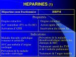 heparines 11