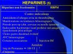 heparines 5