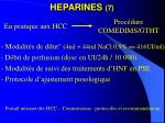 heparines 7