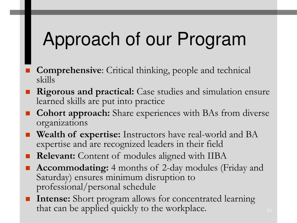 Approach of our Program