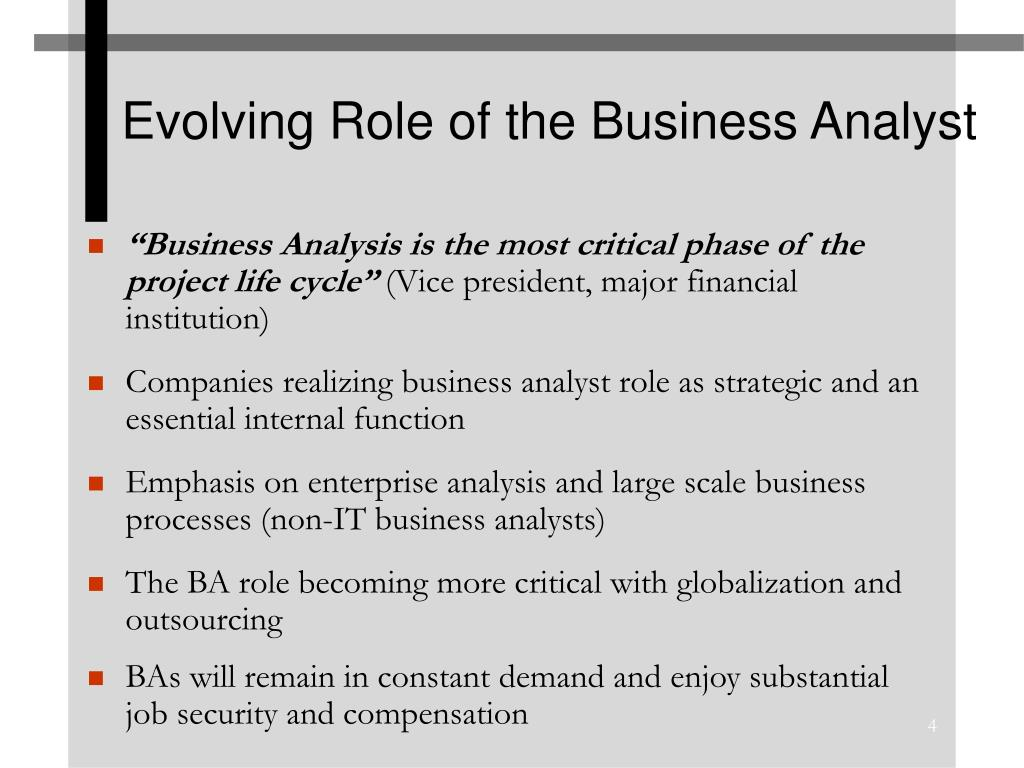 Evolving Role of the Business Analyst