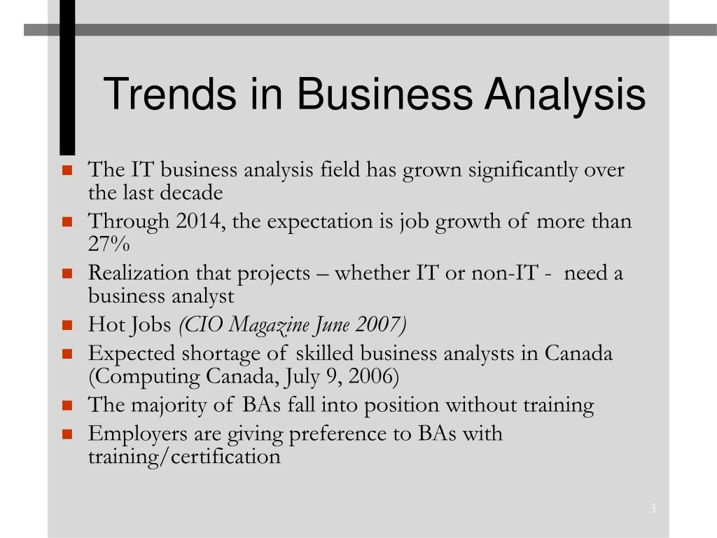 Trends in Business Analysis