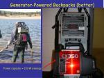 generator powered backpacks better