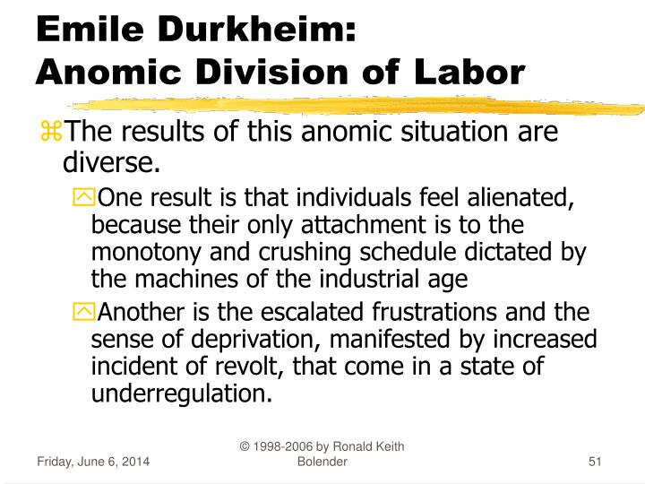 alienation of labor The worker is alienated from his/her product precisely because s/he no longer owns that product, which now belongs to the capitalist who has purchased the proletariat's labor.