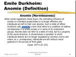 emile durkheim anomie definition