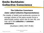 emile durkheim collective conscience