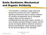 emile durkheim mechanical and organic solidarity3