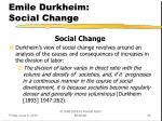 emile durkheim social change
