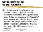 emile durkheim social change1