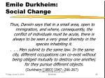 emile durkheim social change2