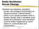 emile durkheim social change3