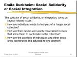 emile durkheim social solidarity or social integration1