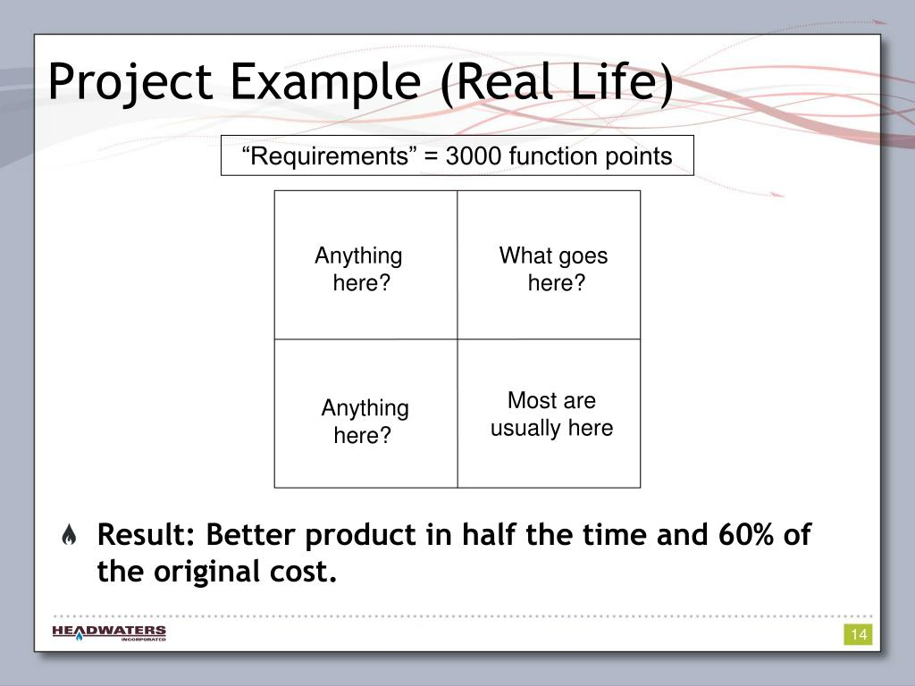 Project Example (Real Life)