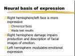 neural basis of expression1
