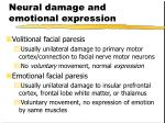 neural damage and emotional expression