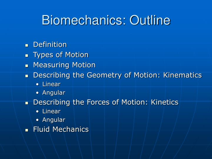 biomechanics outline n.