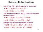 balancing redox equations1