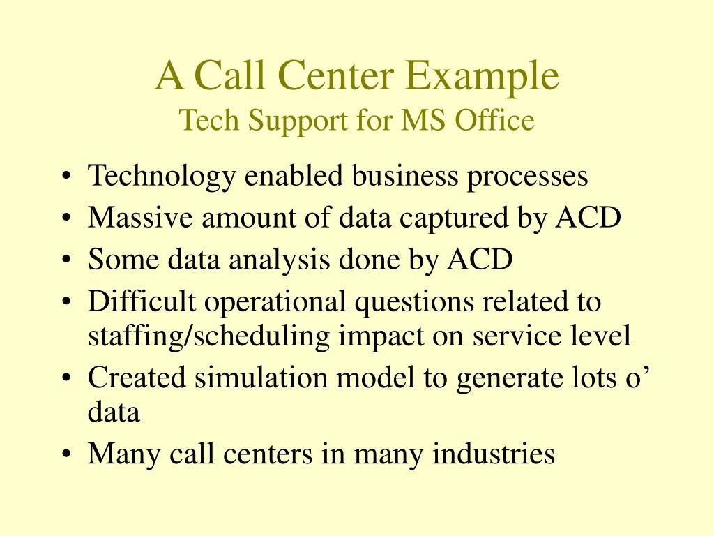 A Call Center Example