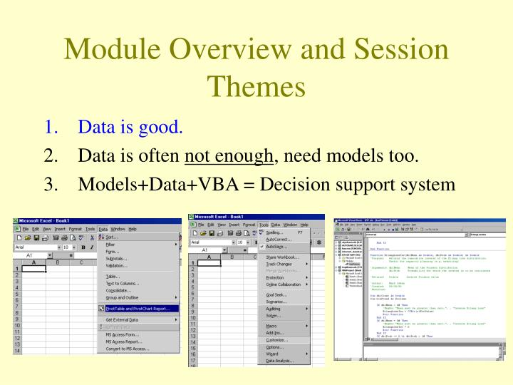 Module overview and session themes