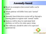 anomaly based