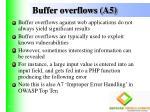 buffer overflows a5
