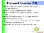 command execution a7