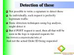 detection of these