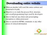 downloading entire website