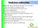 malicious redirection