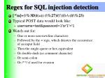 regex for sql injection detection