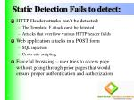 static detection fails to detect