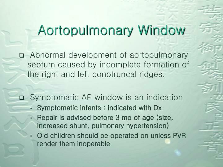 Aortopulmonary Window