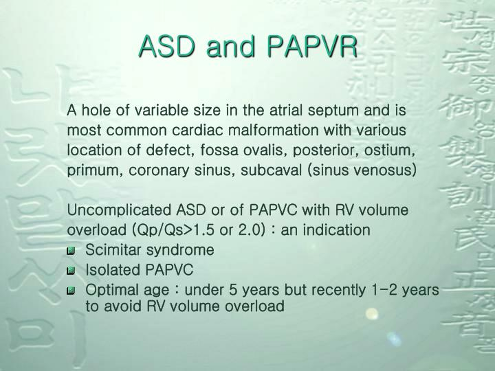ASD and PAPVR