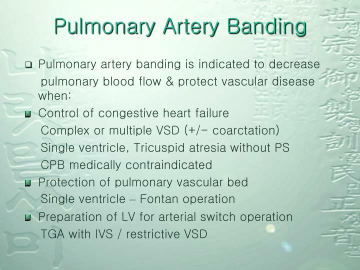 Pulmonary Artery Banding