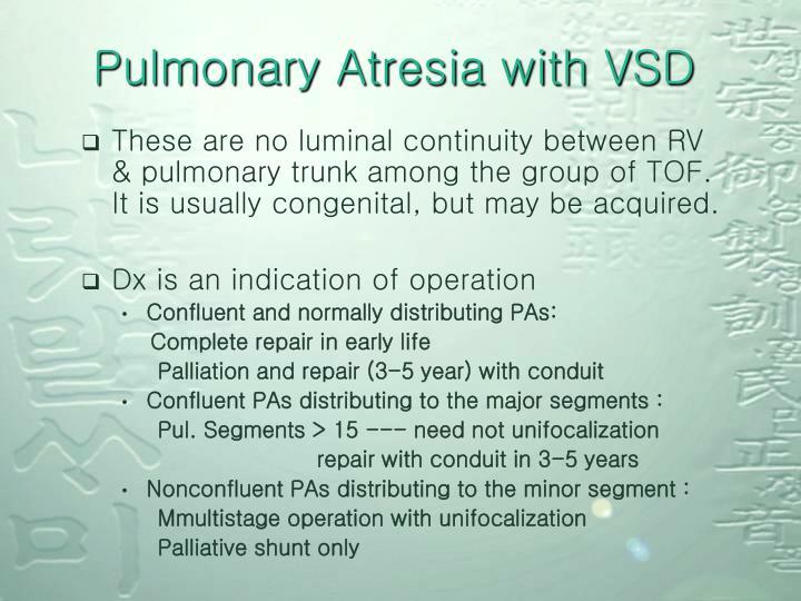 Pulmonary Atresia with VSD