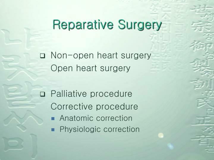 Reparative Surgery