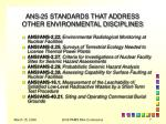 ans 25 standards that address other environmental disciplines1