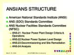 ansi ans structure