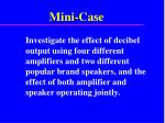 mini case1