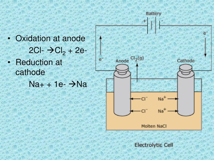 Oxidation at anode