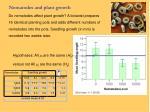 nematodes and plant growth