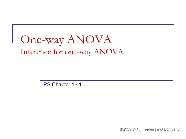 one way anova inference for one way anova n.